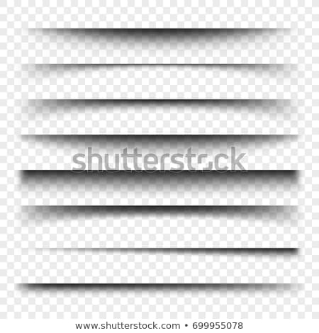 transparent realistic paper shadow effects collection stock photo © sarts