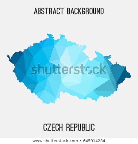 Czech republic flag in low poly style stock photo © user_11397493