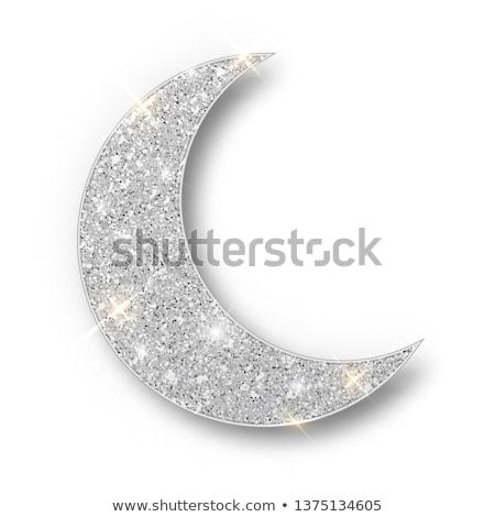 Zilver maan gelukkig valentijnsdag liefde verhaal Stockfoto © Fisher