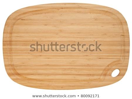 オーバル まな板 描いた 青 クリーン ボード ストックフォト © Digifoodstock