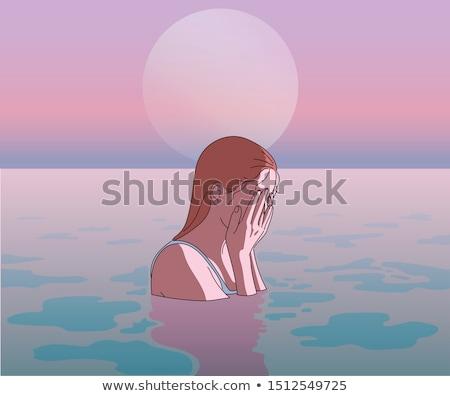 Pôr do sol mistério ficar olhando Foto stock © psychoshadow