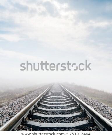 foggy railroad tracks stock photo © njnightsky