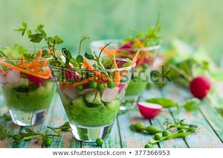 Rauw voedsel voedsel appel kaas vlees salade Stockfoto © M-studio