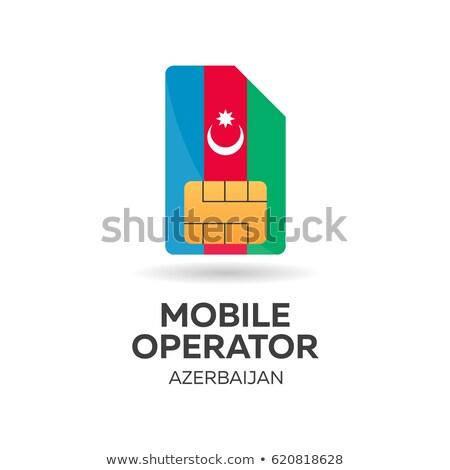 мобильных оператор карт флаг аннотация дизайна Сток-фото © Leo_Edition