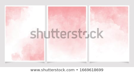 pink green watercolor stain background vector stock photo © SArts