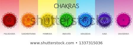 Vetor chakra projeto terceiro olho hinduismo Foto stock © TRIKONA