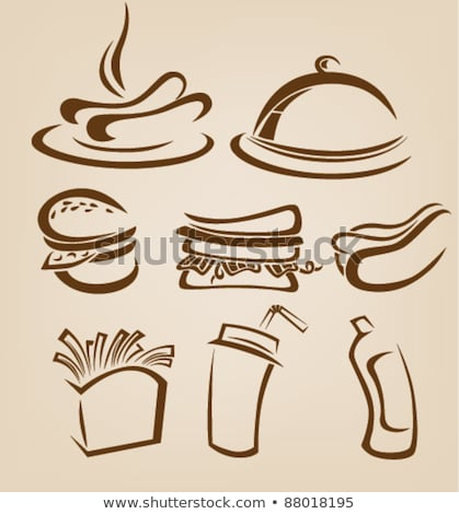 Hotdog on plate with french fries with cola Stock photo © dla4