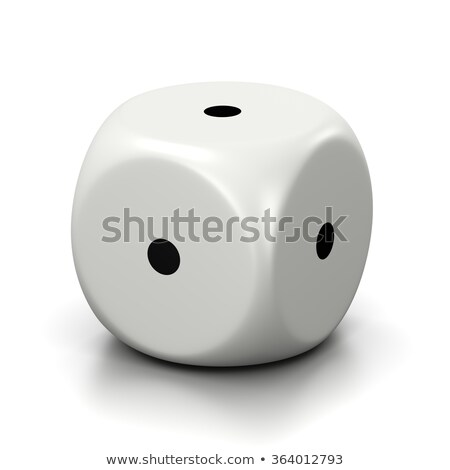 All One Numbered Faces White Dice Stock photo © make