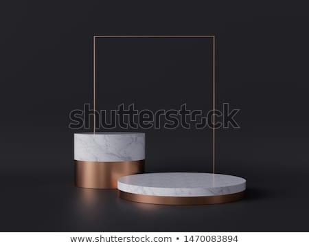 Metal cylinder podium trzy oceniającym Zdjęcia stock © Oakozhan
