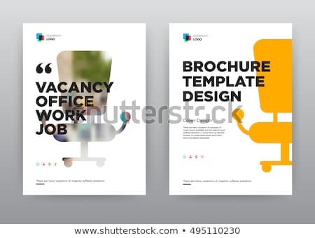 Jobs mappen catalogus gekleurd document Stockfoto © tashatuvango