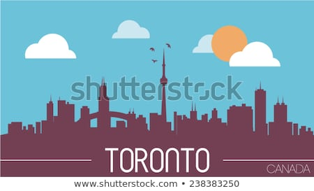 Cartoon Toronto skyline Canada Foto d'archivio © blamb