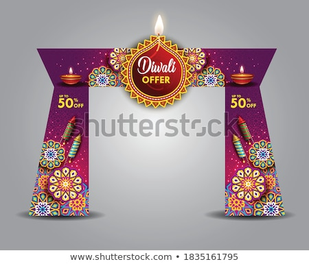 festival sale background with diwali crackers Stock photo © SArts