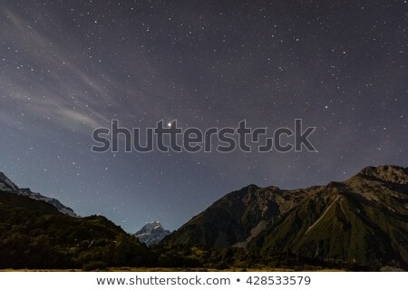 Campground at night with a starry sky Stock photo © manfredxy