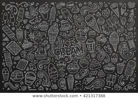 contour ice cream with syrup stock photo © blackmoon979