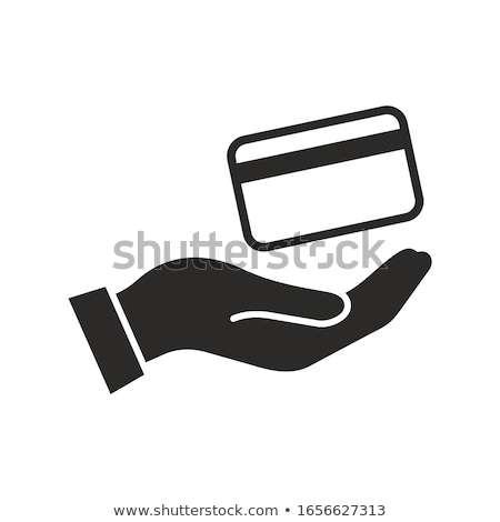 Silhouette débit crédit calcul équilibre fiche Photo stock © Olena