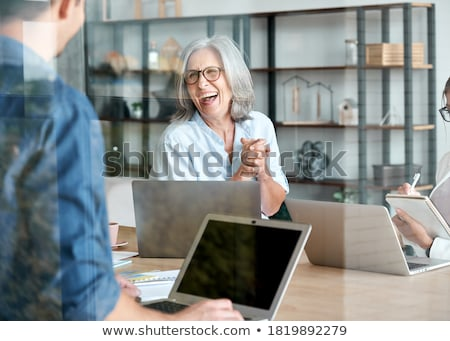 Business man helping trainee Stock photo © IS2
