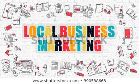 Local Marketing Concept. Multicolor on White Brickwall. Stock photo © tashatuvango