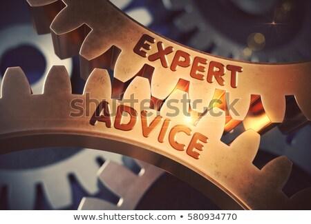 専門家 アドバイス 歯車 メタリック 歯車 ストックフォト © tashatuvango
