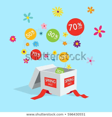 cyber monday box spring sale sign stock photo © krisdog