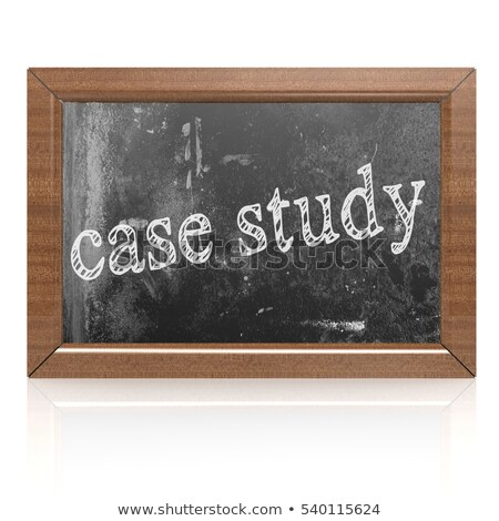 Black Chalkboard with Case Study Concept. 3D Rendering. Stock photo © tashatuvango