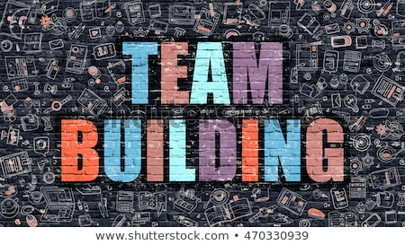 Team Building in Multicolor. Doodle Design. Stock photo © tashatuvango