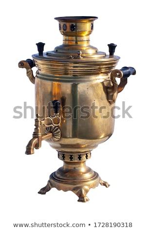 Samovar and old copper kettle Stock photo © Valeriy