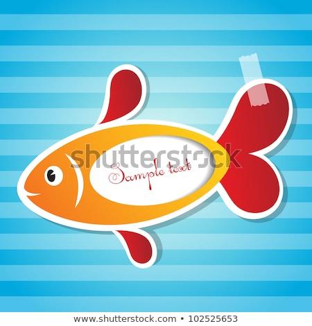 Bebek duyuru balık örnek deniz Stok fotoğraf © adrenalina