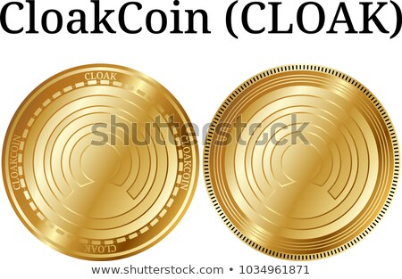 Cloakcoin Virtual Currency - Vector Sign Icon. Stock photo © tashatuvango