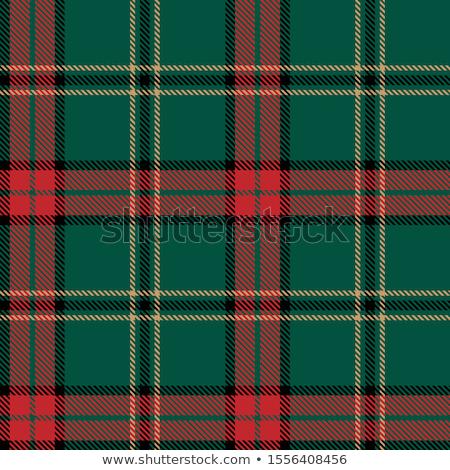Green tartan plaid fabric pattern background Stock photo © myfh88