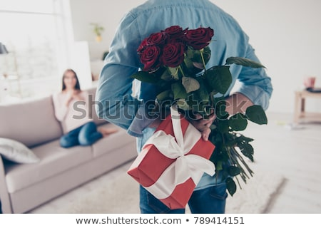 Stock photo: rose gift