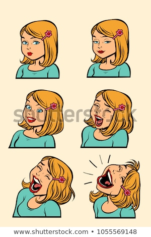 ingesteld · grappig · cartoon · zakenvrouw · presentaties - stockfoto © rogistok