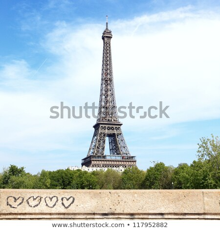 Эйфелева башня формы сердца облака любви Париж Валентин Сток-фото © artfotodima