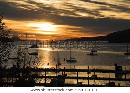 Barcos sal primavera ilha britânico Canadá Foto stock © IS2