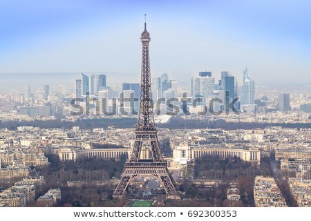 Eiffel Tower and la Defence Stock photo © Givaga
