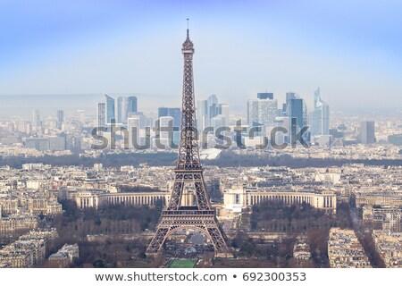 Эйфелева · башня · Париж · антенна · закат · Франция · небе - Сток-фото © givaga