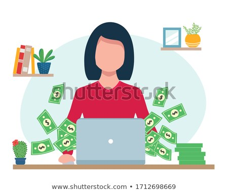 Woman holding banknotes Stock photo © IS2