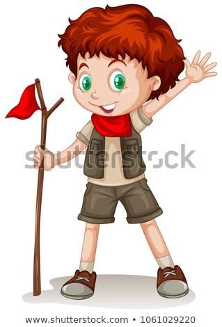 赤 少年 着用 スカウト 手 赤ちゃん ストックフォト © bluering