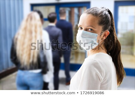 Businesspeople in a queue Stock photo © IS2