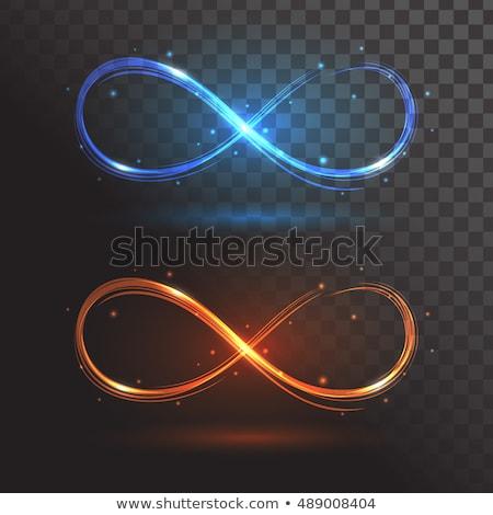Ognia symbol symbol nieskończoności nieskończoność płomień czarny Zdjęcia stock © blackmoon979