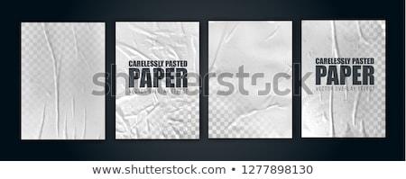 Livret quatre papier blanche brochure Photo stock © romvo
