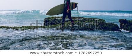 Surfer surfen surfen oceaan hemel mannen Stockfoto © joyr