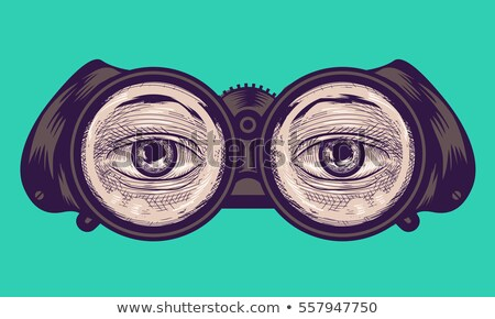 Eye Binoculars Cross Hatching Stock photo © lenm