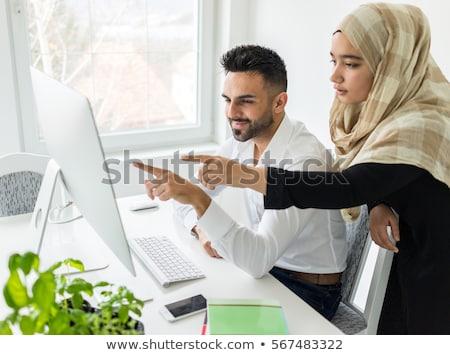 üzlet dolgozik férfi kezek modern számítógép Stock fotó © Lana_M