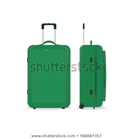 Csomagok ikon bőrönd utazás táska cipzár Stock fotó © robuart