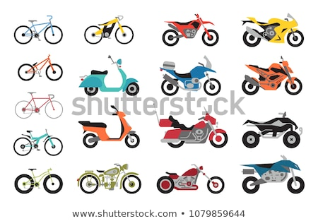 Motorized Bicycles Collection, Scooter Motorbikes Stock photo © robuart