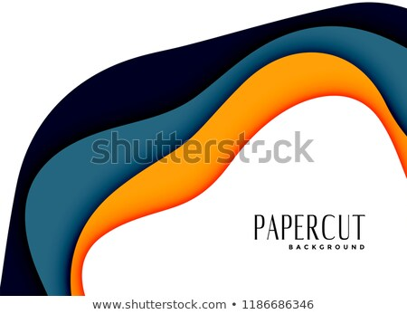 abstract papercut layred background design Stock photo © SArts