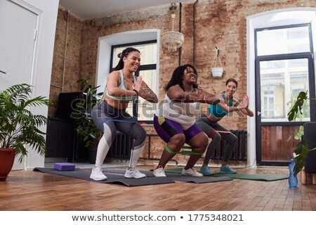 Tres encajar mujeres resistencia Foto stock © Kzenon