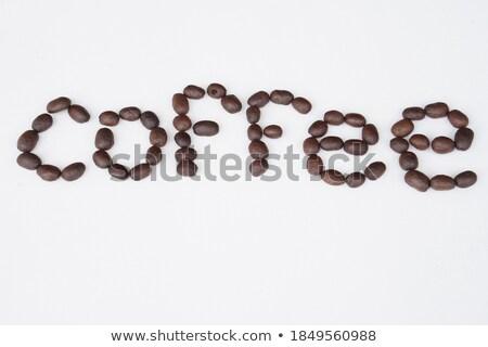 Varázsige angol szó kávébab illusztráció iskola Stock fotó © bluering