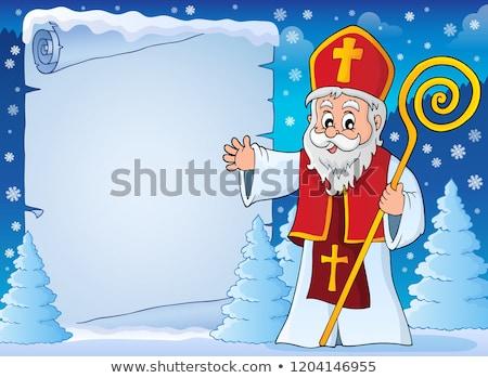 Saint Nicholas topic parchment 5 Stock photo © clairev