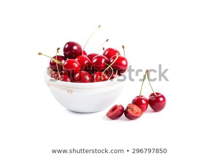 piros · cseresznye · fehér · tál · rózsaszín · nyár - stock fotó © Illia